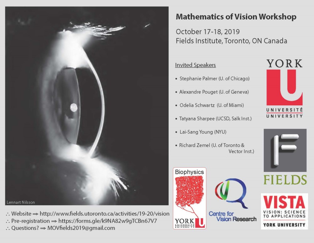 Mathematics of Vision @ Fields Institute